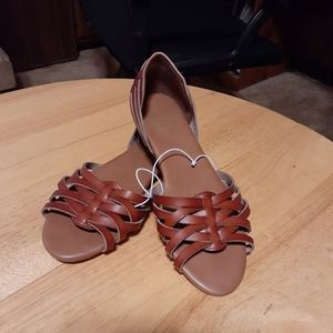 Report Leather Trombone Sandals. Size 5 1/2 NWOT